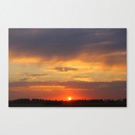 sundown sundown sunset Canvas Print