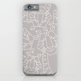Minimalist Tiger iPhone Case