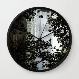 Seeing WTC1 through the Trees Wall Clock