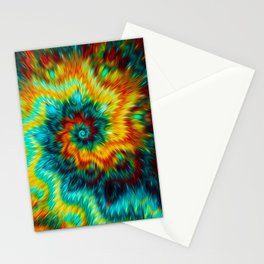 Abstract Fractal Spiral - Oil painting effect plus movement effect Stationery Cards