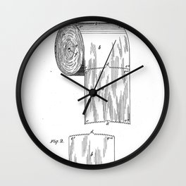Vintage Toilet Paper Invention Patent (1891) Wall Clock