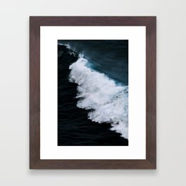 Powerful breaking wave in the Atlantic Ocean - Landscape Photography Framed Art Print
