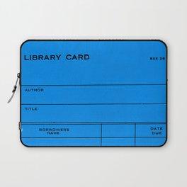 Library Card BSS 28 Blue Laptop Sleeve