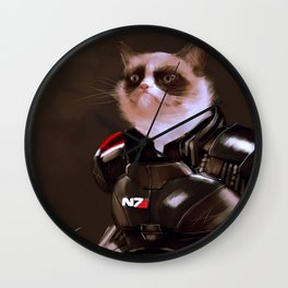 Commander Grumpy Wall Clock