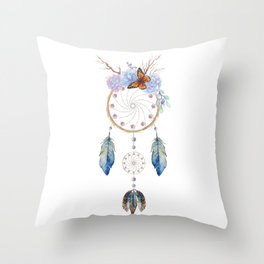 Boho dreamcatcher Throw Pillow
