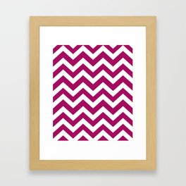 Jazzberry jam - violet color - Zigzag Chevron Pattern Framed Art Print