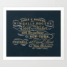 Kimball & Rogers Boot Blackers Art Print