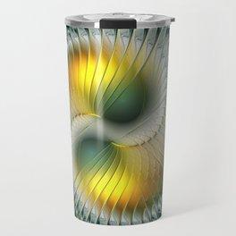 Like Yin and Yang, Abstract Fractal Art Travel Mug