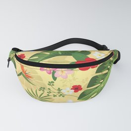 Tropical Flower Background 2 Fanny Pack