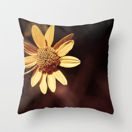 Yellow coneflower/sunflower Throw Pillow