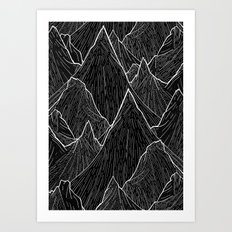 The Dark Peaks Art Print