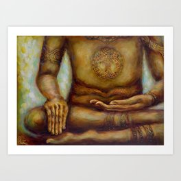 """Touching the Earth Mudra"" Art Print"