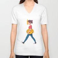 emoji V-neck T-shirts featuring Emoji Expression by DanniSketches