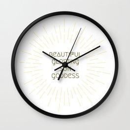 Beautiful Glowing Sun Goddess Wall Clock