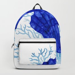 Seashell on coral - watercolors Backpack