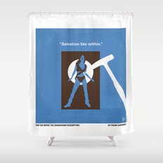 No246 My THE SHAWSHANK REDEMPTION minimal movie poster Shower Curtain