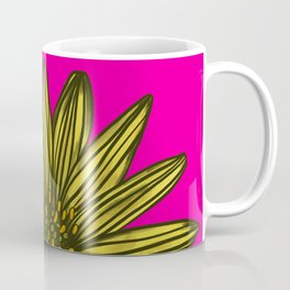 Mellow Yellow Daisy on hot pink Coffee Mug