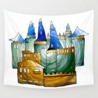 castle Wall Tapestries featuring Castle by Irina  Mushkar'ova