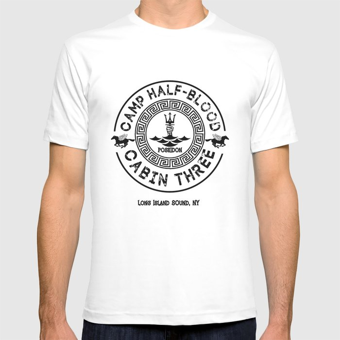 Percy Jackson - Camp Half-Blood - Cabin Three - Poseidon T-shirt by  gingerbun