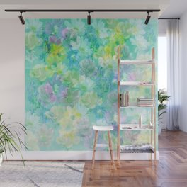 Enchanted Spring Floral Abstract Wall Mural