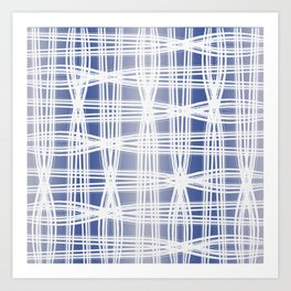 Indigo Pattern (Slim Look Leggings) No.1 Art Print