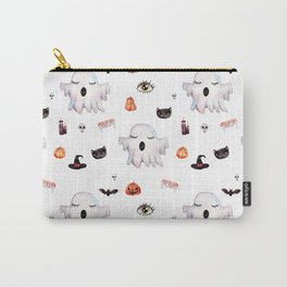 Ghostly Halloween Pattern Carry-All Pouch