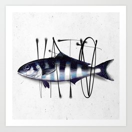 Tag on Fish V Art Print