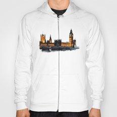 London, Big Ben, parliament, Watercolour Hoody