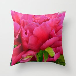 Dark Pink Tree Peony by Teresa Thompson Throw Pillow