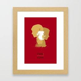 Merlin & Arthur BBC - Two sides of the same coin Framed Art Print