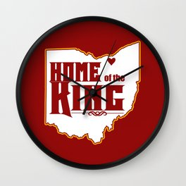 Home of the King (Red) Wall Clock