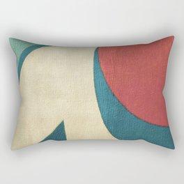 Sailing on Big Waves Rectangular Pillow