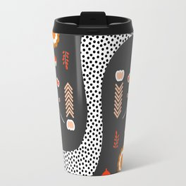 Acorns, flowers and a dotted river Travel Mug