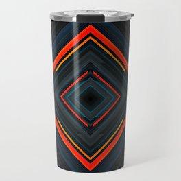 Dark abstract technology background. Travel Mug