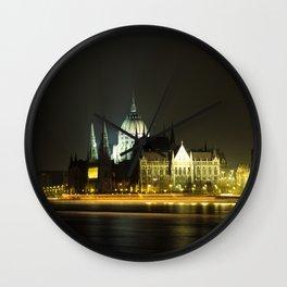 Budapest at night Wall Clock