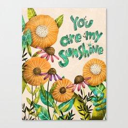You are My Sunshine- Illustration Canvas Print