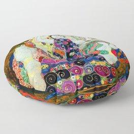 Art Nouveau Ladies - Gustav Klimt Floor Pillow