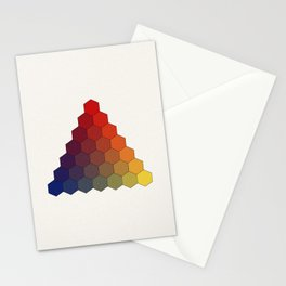 Lichtenberg-Mayer Colour Triangle (Tobiae Mayeri, Opera inedita - Vol. I, plate III), 1775, Remake Stationery Cards