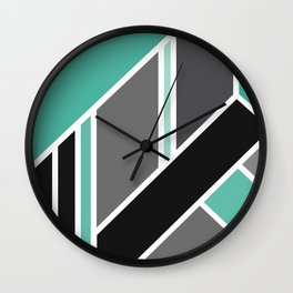 Art Deco The Look Of Love In Mint Wall Clock