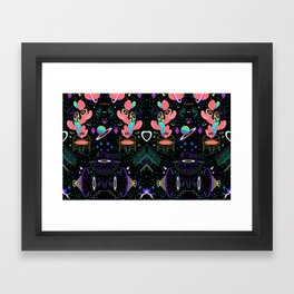 MOON / MOON / MOON Framed Art Print