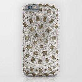 Maya Calendar Glyphs Golden texure on stone iPhone Case