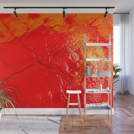 Image of blood-colored liquids mixed with other organic fluids Wall Mural