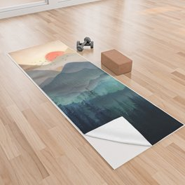 Wilderness Becomes Alive at Night Yoga Towel