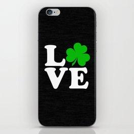 Love with Irish shamrock iPhone Skin
