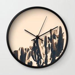 Abstract Cactus Wall Clock
