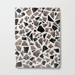 Terrazzo Marble Rose Gold Glitter Glam #1 #decor #art #society6 Metal Print