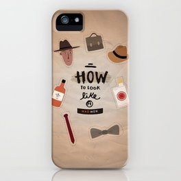 how to look a Mad Men iPhone Case