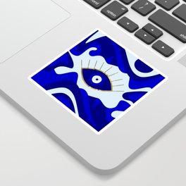 Lava All Seeing Evil Eye Sticker