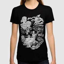 Hispanic Legend La Llorona (black and white) T-shirt