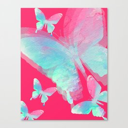 Butterfly dream duotone Canvas Print
